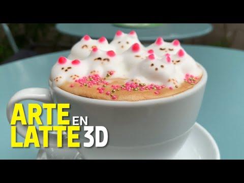 Arte Latte en 3D, la creatividad de decorar las tazas de café