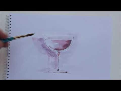 Schilderen van een wijnglas from YouTube · Duration:  3 minutes 8 seconds