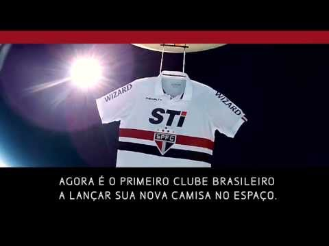 Soccer/Football team sends new jersey into space - Sao Paulo F.C. (English subtitles)