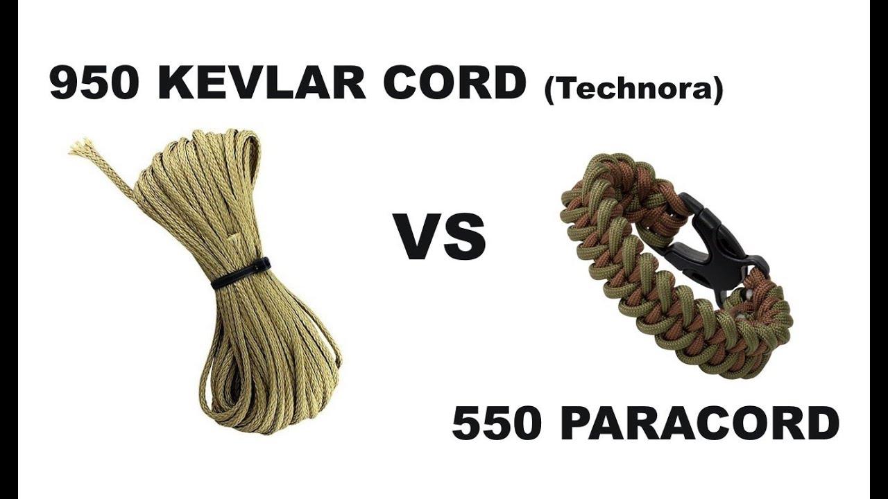 950 kevlar cord vs 550 paracord canadian prepper youtube