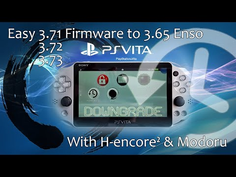 Easy Downgrade From 3.71 3.72 3.73 Firmware To 3.65 Enso