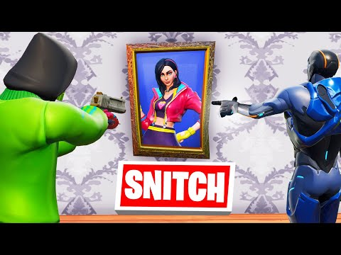 SNITCH The HIDER IN THE PAINTING To WIN! (Fortnite)