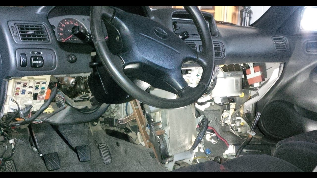 2000 Toyota Corolla Engine Diagram 2016 F150 Headlight Switch Wiring ᴴᴰcorolla E11 4age 20v Bt Swap Guide [part 2.2: Interior, Harness, Ecu Removal] - Youtube