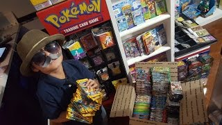 Worlds BIGGEST BOOSTER BOX!! Carls New POKEMON TCG AREA!! PACK BATTLE Against Carls Collectibles!!