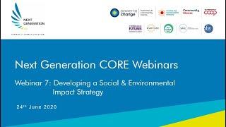 7. Developing a social and environmental impact strategy. Next Generation Community Solar Webinars