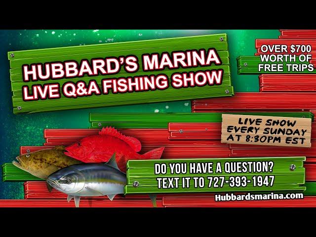 Live Q&A Fishing Show 1-10-21   Hubbard's Marina   Madeira Beach FL   www.HubbardsMarina.com