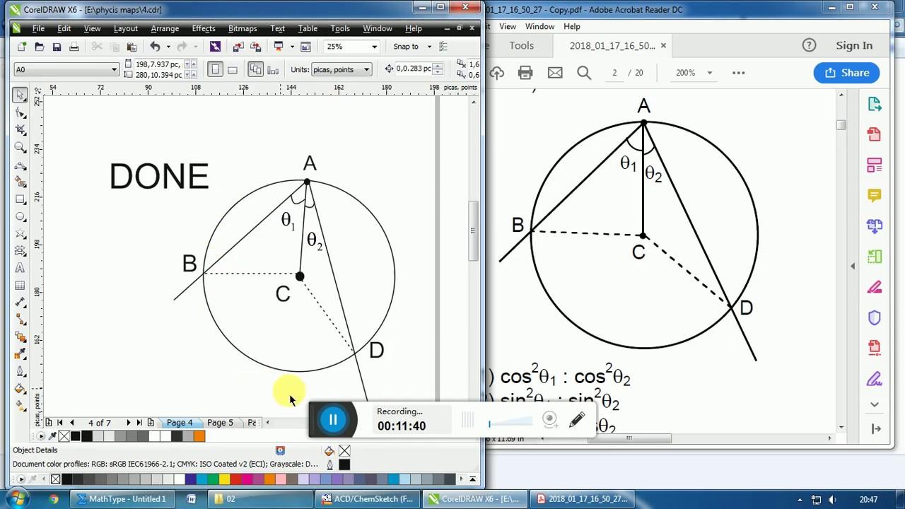 Physics Diagrams In Corel Draw