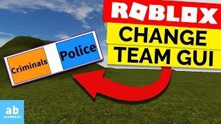 Wie man eine Team-Änderung-GUI auf Roblox macht