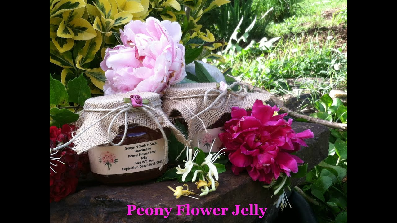 How To Make Jelly, Making Peony Flower Jam, How To Make A Flower Jelly
