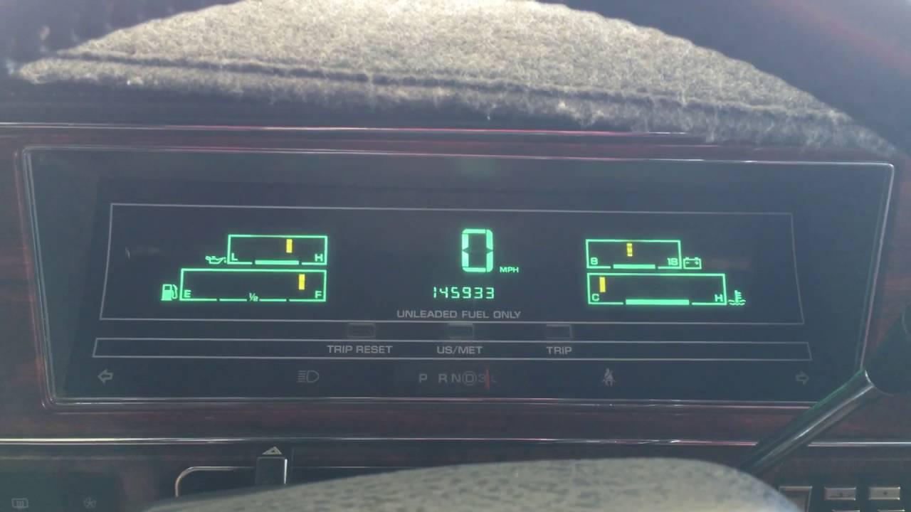 1991 chrysler new yorker digital gauge cluster update [ 1280 x 720 Pixel ]