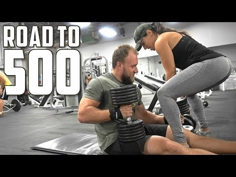 Ultimate Strength Gainer Workout w/ My Girlfriend | Road to 500 Ep. 2