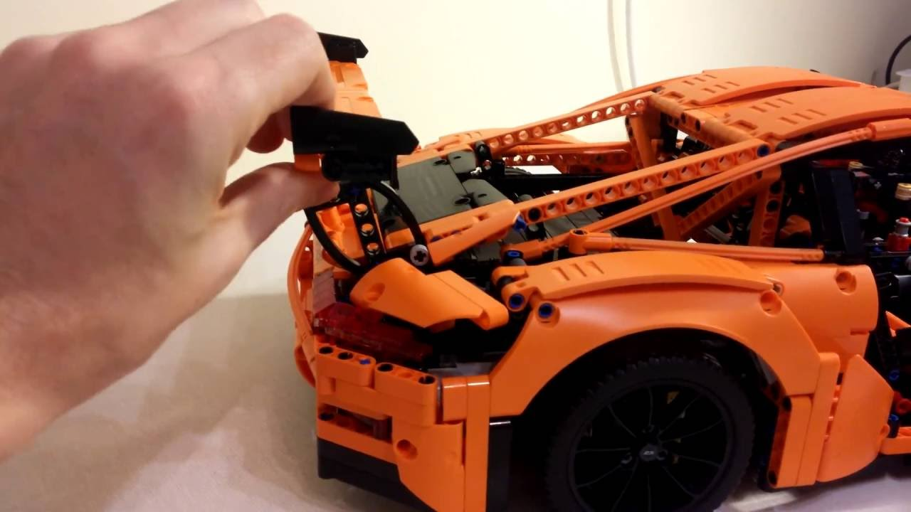Lego Technic Porsche 911 Gt3 Rs Assembly 42056 Youtube