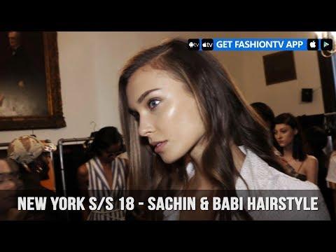 New York Spring/Summer 2018 - Sachin & Babi Hairstyle   FashionTV