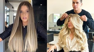 New Hair Look for Long Hairs | New Hair Look Compilation Videos | New Hair Look Cutting
