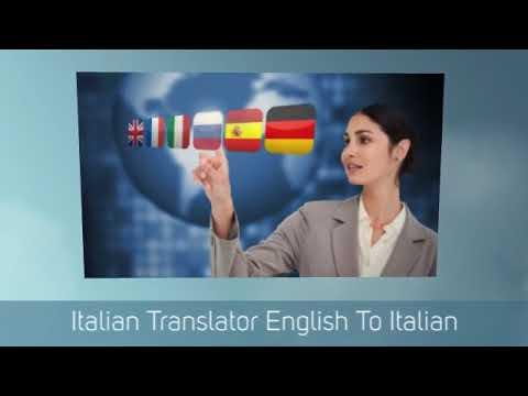 Translate Italian To English Text