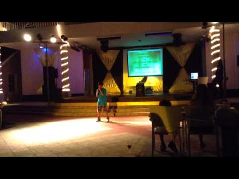 Christopher in a Jamaican Karaoke Contest
