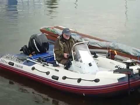 Установка носового тента с троллинговой таргой на лодку ПВХ - YouTube