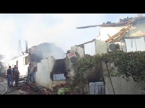 Bademli'de korkutan yangın