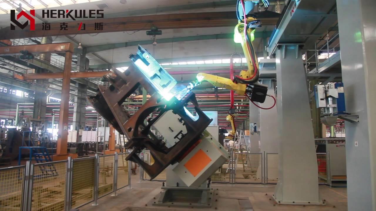 Loader Front Frame Robotic Welding Cell Youtube