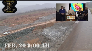 Oroville Dam Press conference 2/20, plus A.M. spillway work in progress