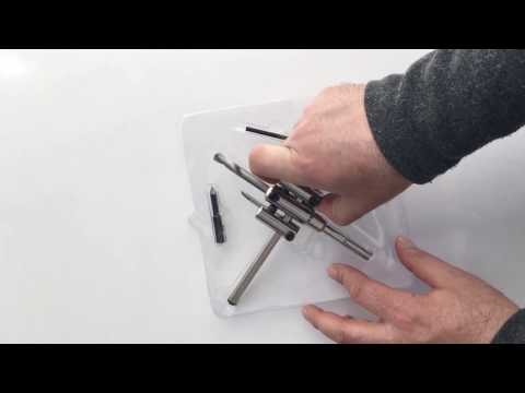 TROY 27402 Ayarlanabilir Alçıpan Delme Seti (40-200mm)