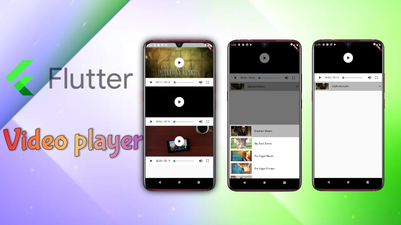 Flutter Video Player in Details, Display Video From Internet - Examples