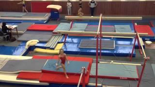 Спортивная гимнастика. Настя Сабирзянова 7лет. 1 юн.разряд