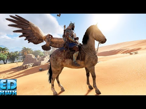 Assassin's Creed Origins Unarmed Vs Phylake & All Enemies Maxed Out Settings