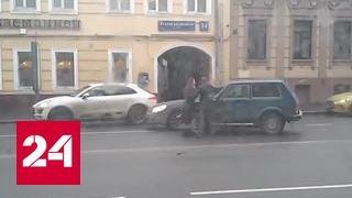 Разбил машину на камеру: дорожный конфликт на Старой Басманной