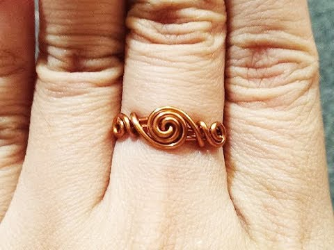 simple twisted round ring for beginners - DIY wire jewelry 46