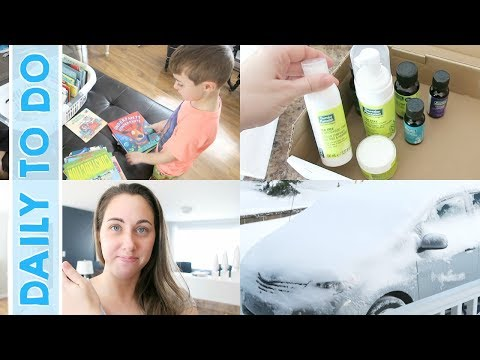 Daily to Do | KonMari Declutter, Cleaning House & Snow Fun!
