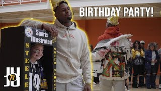 JuJu Smith-Schuster Hangs Out with Fans for his Birthday!