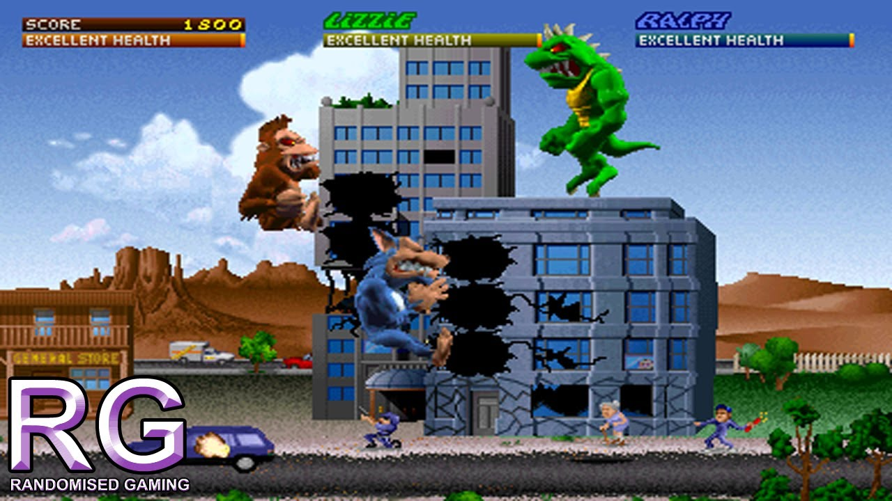 Rampage World Tour Arcade Gameplay Youtube