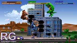 Rampage World Tour - Arcade Gameplay