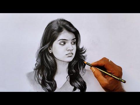 Nazriya pencil drawing video / Nazriya Nazim Actress