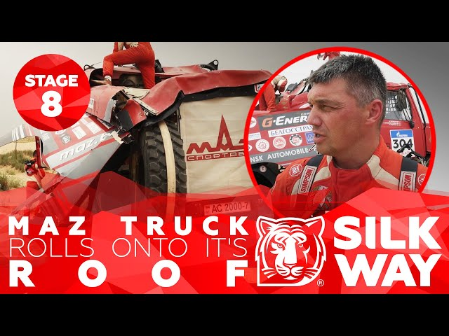 MAZ truck rolls onto it's ROOF - Daily news | Silk Way Rally 2019🌏 - Stage 8