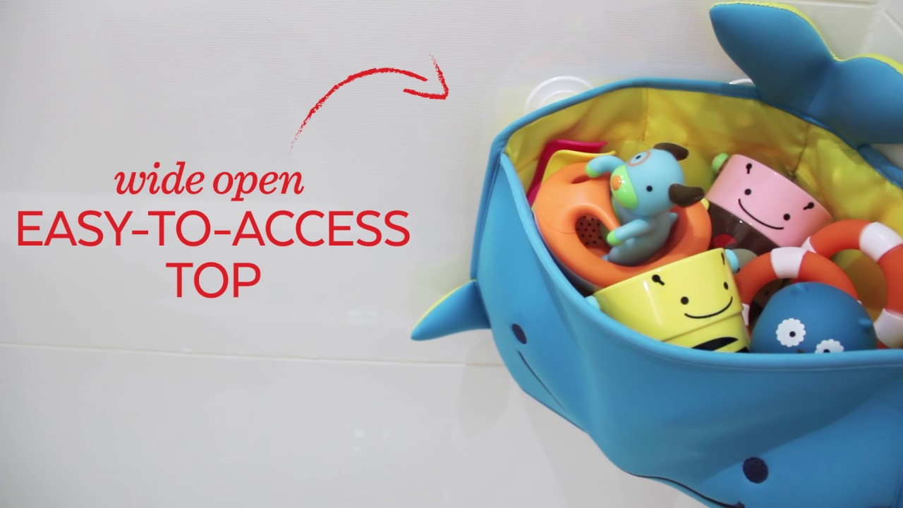 Skip Hop Moby Corner Bath Toy Organizer - YouTube