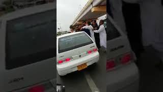 PTI MPA Dr Imran Ali Shah beated Daood in Karachi