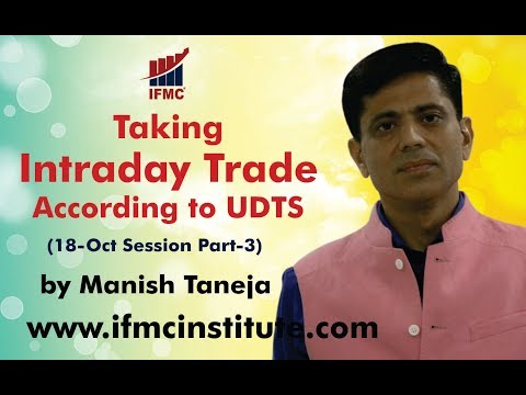Taking Intraday Trade according to UDTS ll 18 Oct Session Part-3