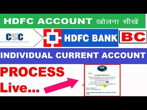 HDFC Bank Individual Current Account Process