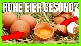 Rohe Eier vs. gekochte Eier? Gesund? Salmonellen? Biotin Defizit? Ekelig?