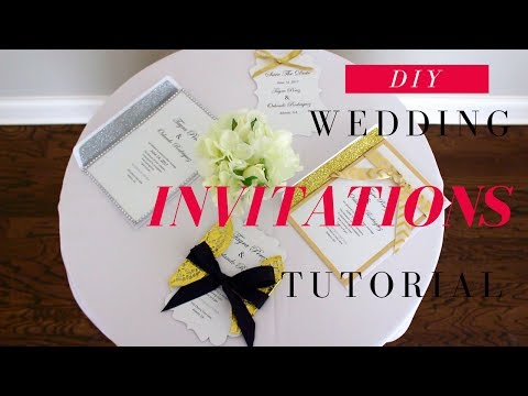 DIY WEDDING INVITATIONS | DIY SAVE THE DATE CARDS |  FAST, EASY, & AFFORDABLE