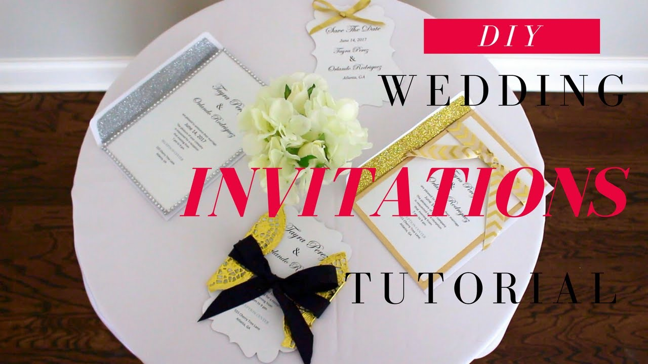 Diy Wedding Invitation Ideas Save The Date Cards Easy Affordable