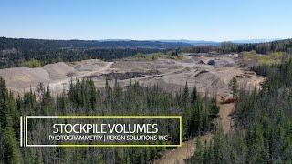 Stockpile Volume Surveying | Photogrammetry | Drones | Rekon Solution Inc