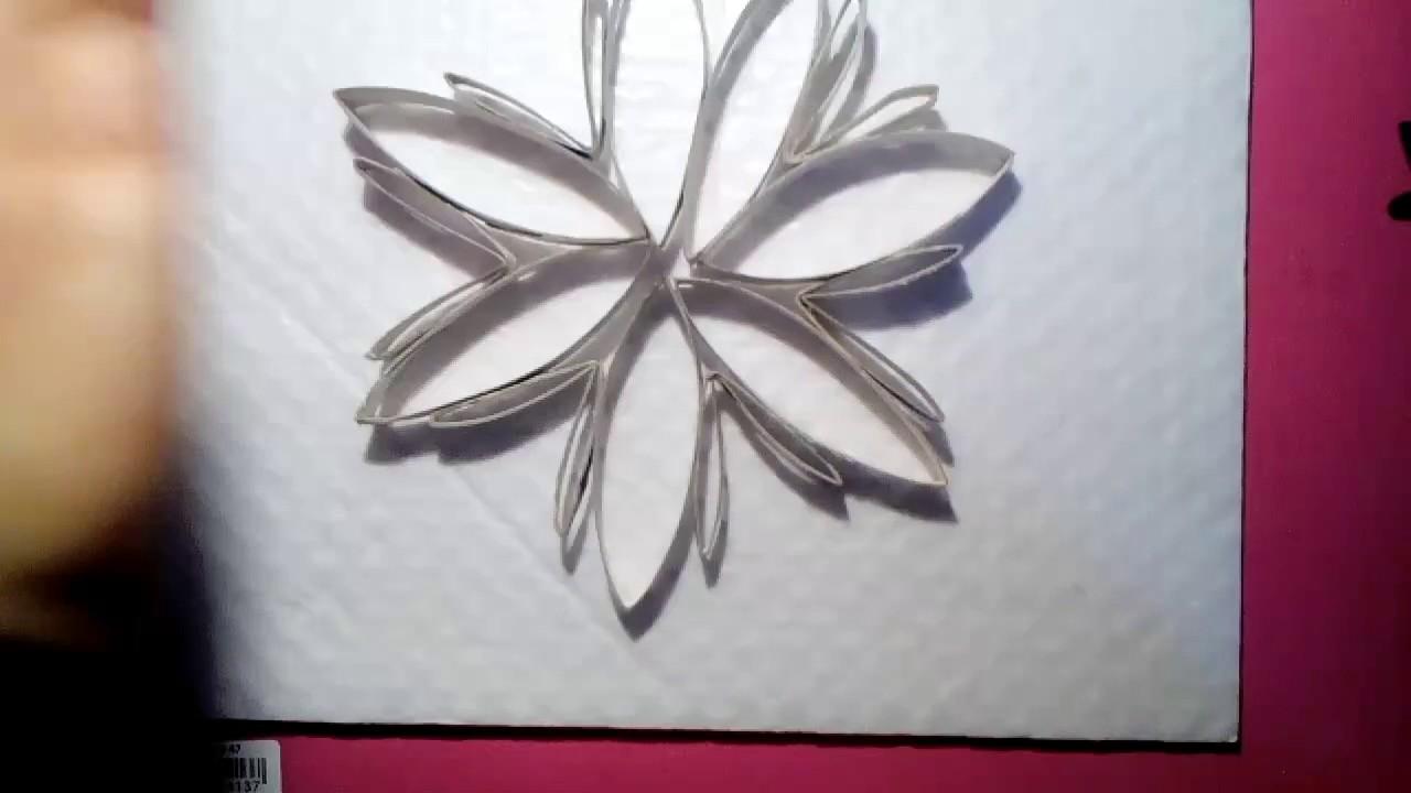 comment r aliser une fleur en rouleau de papier toilette youtube. Black Bedroom Furniture Sets. Home Design Ideas