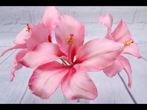 How To Make A Stunning Hibiscus Flower Youtube