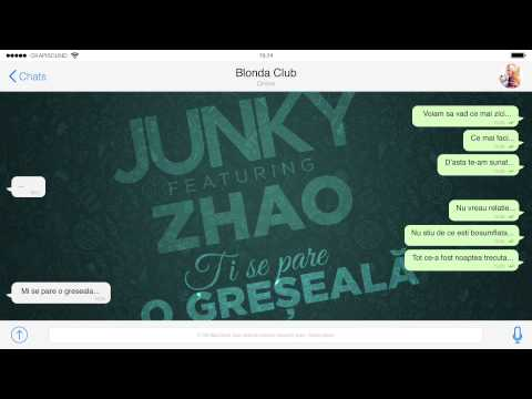 Junky feat. Zhao - Ti se pare o greseala