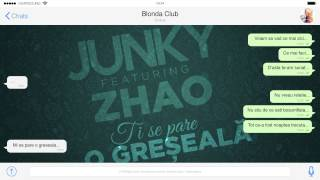 Repeat youtube video Junky feat. Zhao - Ti se pare o greseala