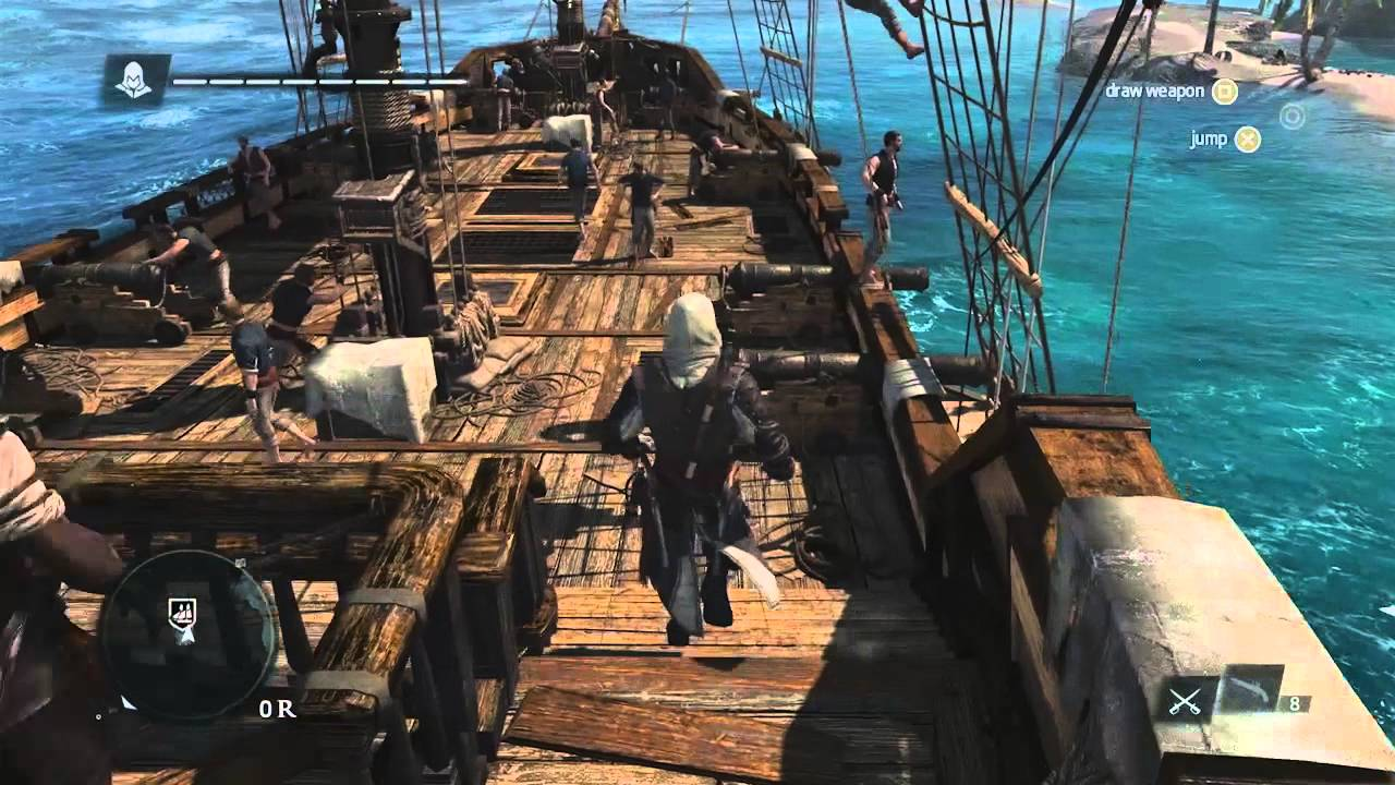 Assassins Creed 4 Black Flag Caribbean Open World Gameplay