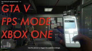 GTA V Game Intro in FPS Mode - Xbox One - Grand Theft Auto Next Gen - First Person